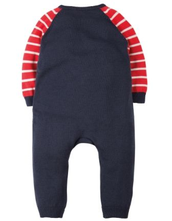 3afe35906 Frugi Cosy Knitted Romper Navy Tractor
